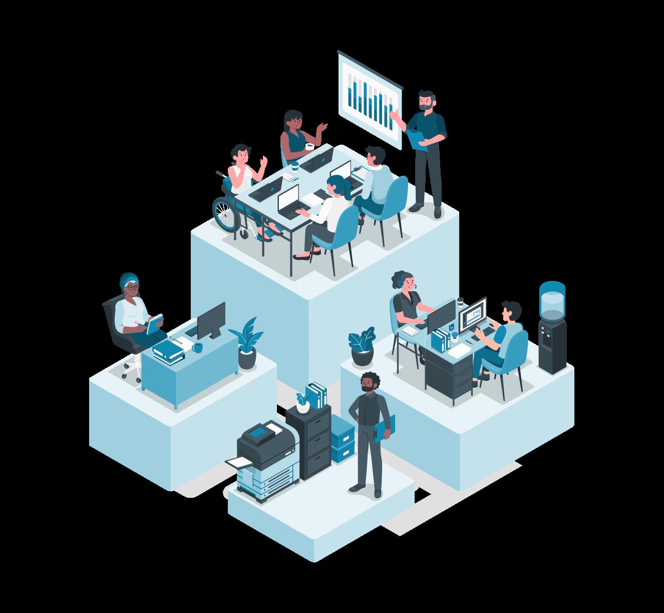 A forma inteligente de gerenciar seu escritório